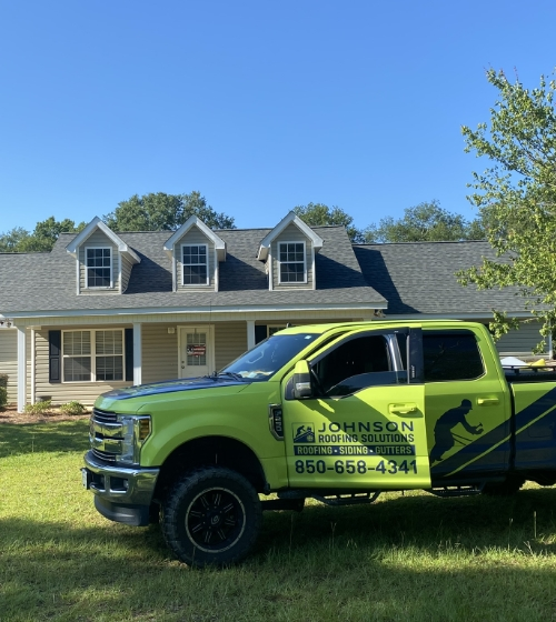 Johnson Roofing Solutions Company Truck Panama City Florida